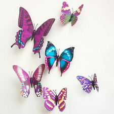 3D Butterfly Stickers DIY  Decal Wall Sticker Room Party Cake Decorations 12PCS