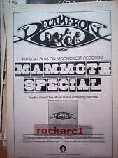 DECAMERON  Mammoth Special 1974 UK Poster size Press ADVERT 16x12 inches