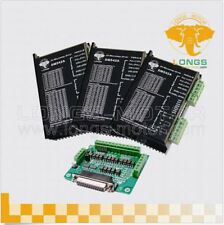 【German Ship】3 axis Nema23 stepper motor Drivers DM542A 4.2A LONGS-MOTOR