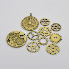 Mixed Bronze Tibetan Alloy Gear Pendants Charms for steampunk jewellery making
