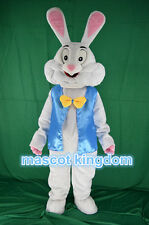 Hot Easter Bunny Mascot Costume Rabbit Cartoon Fancy Dress Free Ship Adult Size