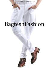 Riding White Equestrian Hermes Pants Baggy Breeches Jodhpurs Polo Trouser