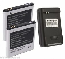 2x replacement Battery and Wall Charger for Samsung Galaxy S GT-I9000 T959V New