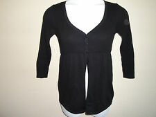 *CUTE* NEW Elle Babydoll Flyaway Sweater Black SZ Small NWT - Great Design!