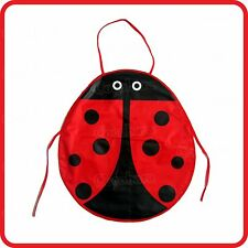 KIDS CHILDREN'S APRON-LADYBUG-LADYBIRD-WATERPROOF-CRAFT-COOKING-COSTUME-PAINT