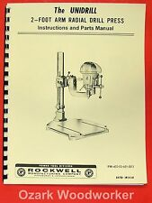 ROCKWELL-Delta Unidrill 14-846 2' Radial Arm Drill Press Owner's Manual 0621