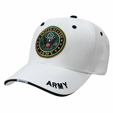 WHITE UNITED STATES US ARMY CAP CAPS HAT HATS USA