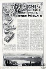Witschi Nahrungsmittel Zürich XL Reklame von 1909 Schweiz Züricher See Werbung
