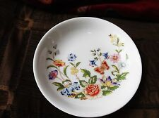 """ELEGANT AYNSLEY COTTAGE GARDEN PIN / BUTTER PAT DISH EXCELLENT CONDITION 4.5"""""""