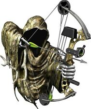 Grim reaper bow hunting camouflage cornhole board game decals