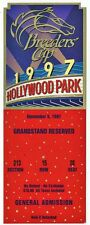 1997 BREEDERS CUP HORSE RACING ADMISSION TICKET - HOLLYWOOD PARK!