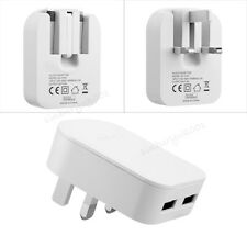 5V 2A Dual USB Charger Plug Fast Charging For iPhone iPad Samsung HTC Sony LG UK