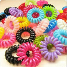 Multicolor 10X Girls Elastic Hair Ties Band Rope Ponytail Phone Wire Hair Band