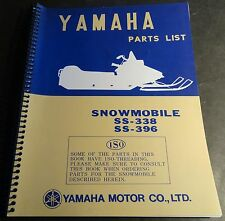 1970 VINTAGE YAMAHA SNOWMOBILE SS-338 & SS-396 PARTS MANUAL NEW (833)