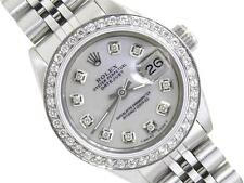 ROLEX SS DATEJUST LADIES WHITE MOP DIAMOND DIAL,BEZEL OYSTER WATCH