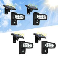 4x LED Solarlampe Solarleuchte Solarstrahler Außen Bewegungsmelder Garten Lampe
