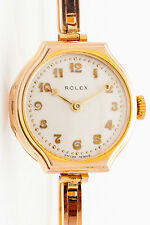 Antique 1931 $9000 9k Solid Gold GENUINE ROLEX Ladies Midsize Watch & BOX & WRTY