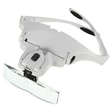 High Quality Headband LED Head Light Magnifier Magnifying Glass Loupe 5 Lens
