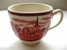 VTG JOHNSON BROS CUP RED TOILE TRANSFERWARE PENSHURST KENTIN IN 1792 ENGLAND