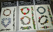 WHOLESALE LOT 24 PCS  HIGH QUALITY TEMPORARY TATTOOS PRETTY BELLY/BREAST  RINGS