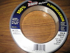100 Yard Spool Berkley Big Game Saltwater Clear Fluorocarbon Trilene 20Lbs