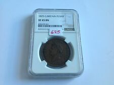 1825 Great Britain Penny NGC XF 45 Brown