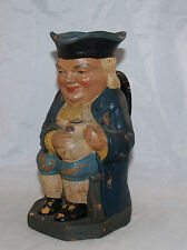 ANTIQUE FIGURAL TOBY JUG MUG SEATED GENTLEMAN COMPOSITION PAPER MACHE PULP