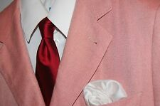 RARE soft BAMBOO LINEN Canali unstructured blazer jacket sport coat pink 40R