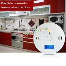 LCD monossido di carbonio fumo Gas sensore Bianco Attenzione rivelatore allarme