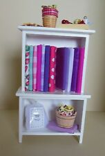 Dollhouse miniatures sewing cabinet w/fabric quilting & sewing supplies