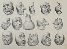Honore Daumier France 1808-1879 Masques de 1831 La Caricature Plate No 143