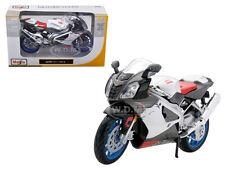 APRILIA RSV 1000 WHITE BIKE 1/12 MOTORCYCLE BY MAISTO 31036