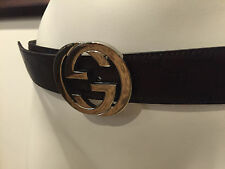 100% Authentic  Gucci Women's 114984 Brown Leather GG Guccissima Brown!! STEFBEN