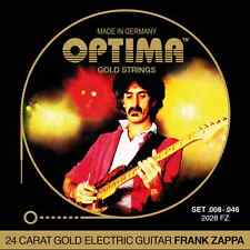 Optima Frank Zappa Electric Guitar String Gold conjunto,. 008 - .046