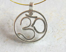 Karen Hill Tribe Silver Ohm Pendant 19mm.