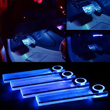 Blue Car Decorative Interior Lights LED Charge Floor Decoration Lamp 4 In 1 New