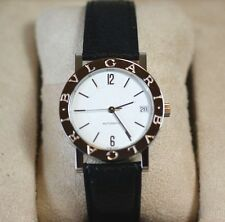 100% AUTHENTIC BVLGARI STAINLESS STEEL WHITE DIAL MEN WATCH NEW LOGO CERTIFICATE