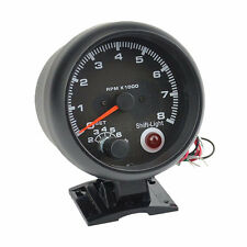 "3.75"" Universal Black color 0-8000 rpm gauge with inter shift light RPM gauge"