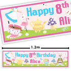 WACKY WONDERLAND PINK / Alice in Wonderland party personalised banner