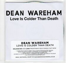 (EC16) Dean Wareham, Love Is Colder Than Death - 2013 DJ CD