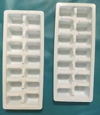 ECONOMY EASY RELEASE WHITE ICE CUBE TRAY SET OF 2 : NEW FAST SHIPPING !