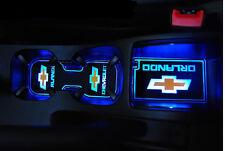 LED Cup Holder Console Plate Blue 2p For 11 12 Chevy Orlando 4d