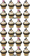 Minnie Mickey Mouse 16 Cupcake Rings Birthday Toppers Favors Prizes Decorations