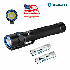 Olight S2A Baton CREE XM-L2 LED 550 Lumen Flashlight+2x AA Battery (BLACK)