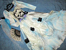 Victorian Day of the Dead corpse bride wedding dress COSTUME Mardi Gras OOAK