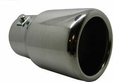 Stainless Steel Universial Exhaust Tail Pipe Chrome 60mm Round Rear Muffler Tip
