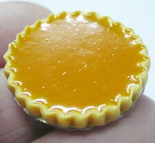 Filled Apricot Tart  On Tin Pans Dollhouse Miniatures Food Bakery