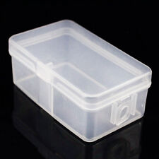 2Pc Mini Clear Plastic Lid Storage Box Collection Jewelry Beads Container Case