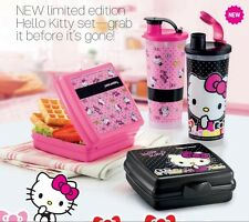 Tupperware Hello Kitty Lunch Box - 1 Tumbler & 1 Lunch Box - Free Shipping