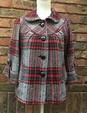 Ladies Size 10 Coat  40s 50s Vintage PinUp WW2 Landgirl Swing Style Red Check